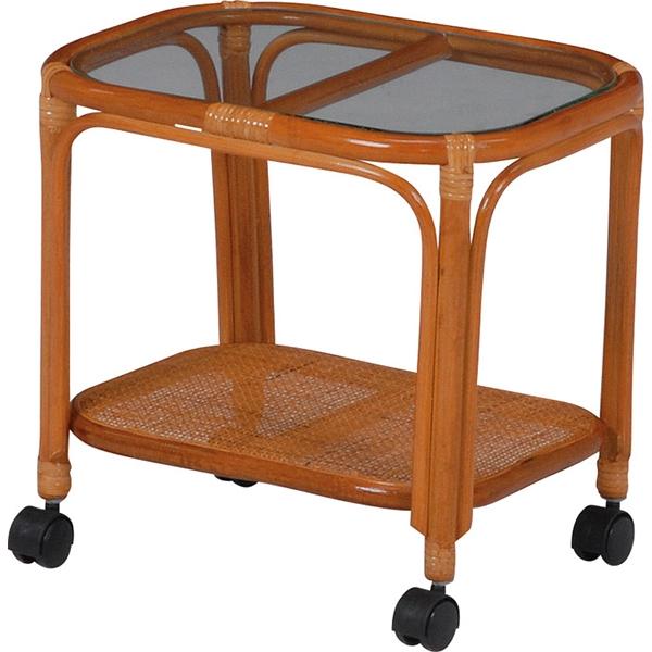 送料無料 ラタンガラステーブル 棚付 旅館 和風 シンプル 温泉 ラタンテーブル 和室【RT-758】
