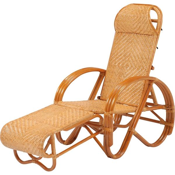 送料無料 リクライニングラタンチェア 温泉 旅館 和風 三ツ折椅子 リゾート 和室 肘掛け【RTB-1382】
