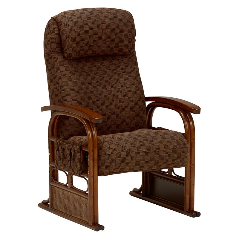 送料無料 座椅子 高座椅子 和室 和風 チェア いす ブラウン 茶色 イス【RZ-1251BR】