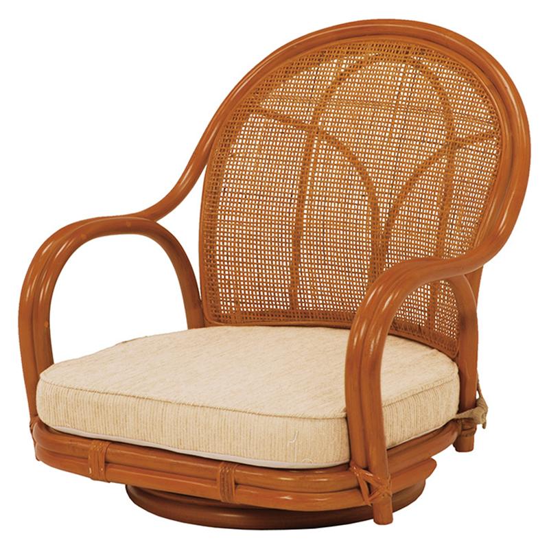 送料無料 座椅子 回転座椅子【2個セット】 和室 ナチュラル チェア ローチェア 椅子 いす フロアチェア【RZ-341NA】