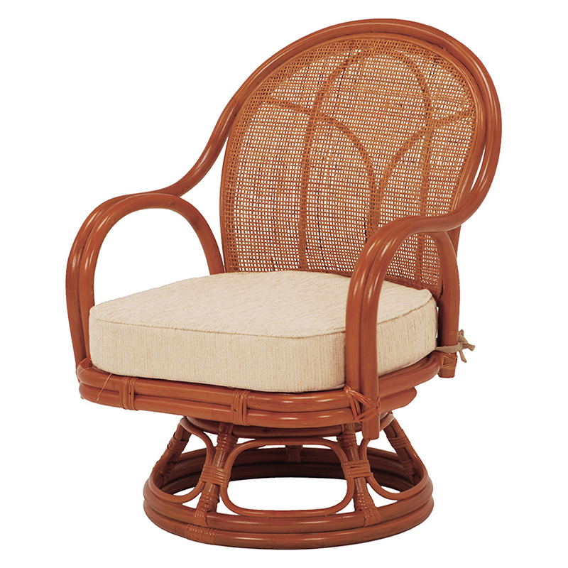 送料無料 イス 回転座椅子【2個セット】 ナチュラル 和風 いす 椅子 チェア 和室 ローチェア【RZ-342NA】