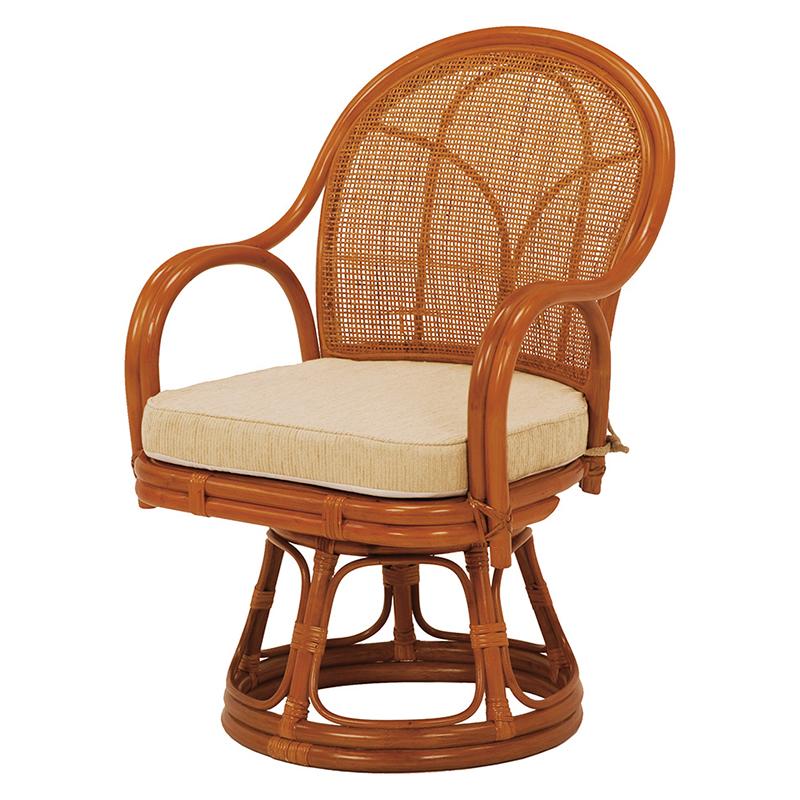 送料無料 イス 回転座椅子【2個セット】 和室 ローチェア チェア いす 椅子 和風 ナチュラル【RZ-343NA】
