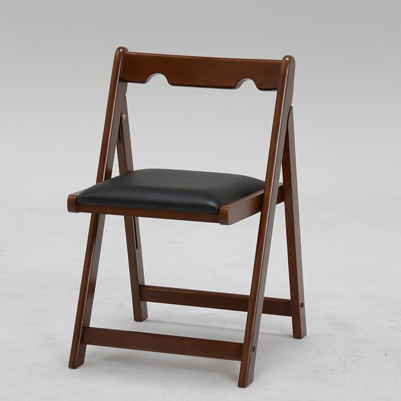 送料無料 折りたたみチェアー 椅子 持ち運び コンパクト 茶色 シンプル チェア いす 折り畳み 折れ脚 ブラウン【VC-7371BR】