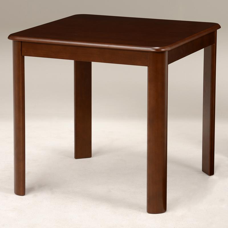 送料無料 ダイニングテーブル テーブル 正方形 ダークブラウン 机 デスク 丸角 茶色【VDT-7683DBR】