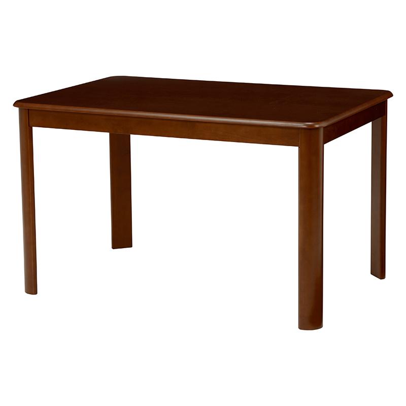 送料無料 ダイニングテーブル テーブル 正方形 茶色 ダークブラウン 丸角 机 デスク【VDT-7684DBR】