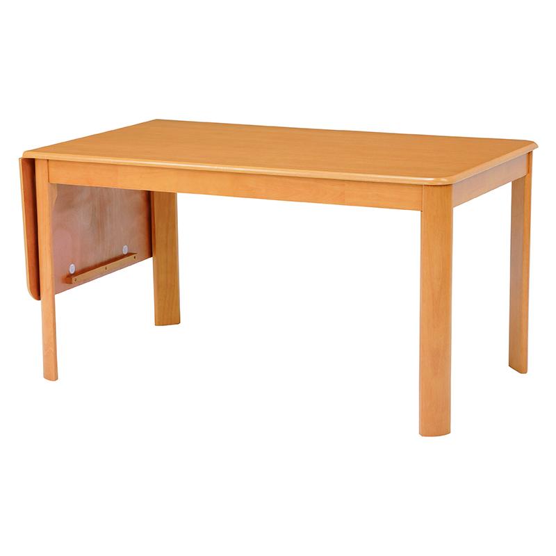 送料無料 ダイニングテーブル テーブル 机 バタフライ式 デスク 丸角 ナチュラル【VDT-7686NA】