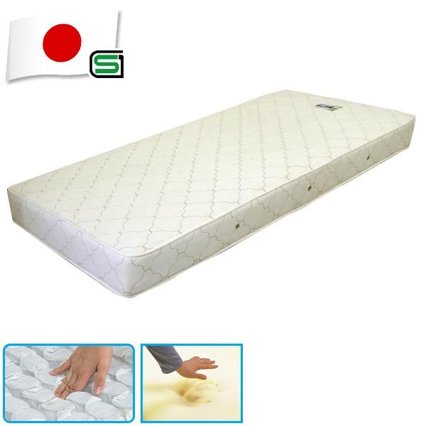送料無料 SGマーク付国産低反発ウレタン入ポケットコイルスプリングマットレス ダブル ダブルサイズ マットレス ベッドマット ベットマット シンプル