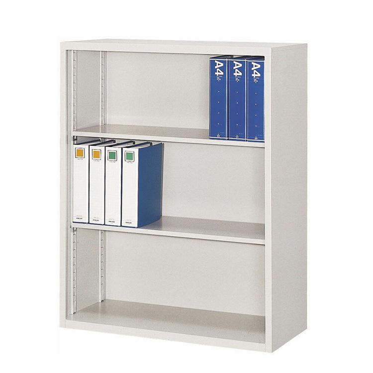 国産 オープン書庫 FO40-G11 完成品 新品 ニューグレー アルプススチール W880×D400×H1110 TRUSCO