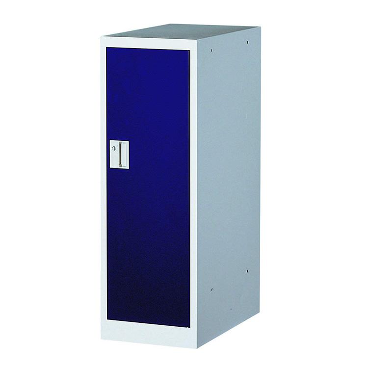 【ポイント10倍!!お買い物マラソン期間限定】ミニロッカー フリーボックス 1人用ロッカー 完成品 連結可能 鍵付 新品 ブルー アルプススチール MMLK-B W300×D515×H880