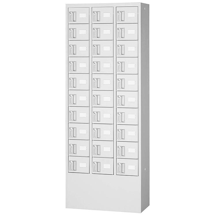 国産 小物入れ 預かりロッカー ダイヤル錠 30人用 3列10段 KTL310-D 完成品 新品 アルプスホワイト アルプススチール トラスコ W600×D300×H1600