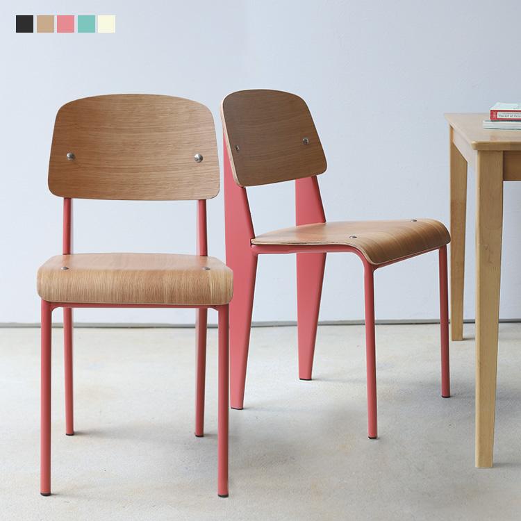 スタンダードチェア リプロダクト Standard chair ジャン プルーヴェ BK VA DP PG 北欧 ※ラッピング ※ 椅子 デザイナーズ家具 テレワーク 2脚セット 在宅勤務 イス 期間限定特別価格 在宅ワーク MTS-139 おしゃれなイス いす シンプル おしゃれ