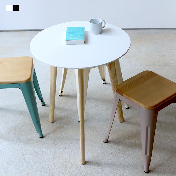 カフェテーブル ミニマム サイドテーブル 人気 おすすめ ラウンドテーブル 丸テーブル φ60 お金を節約 600mm BK コンパクト テーブル WH MTS-145 受付