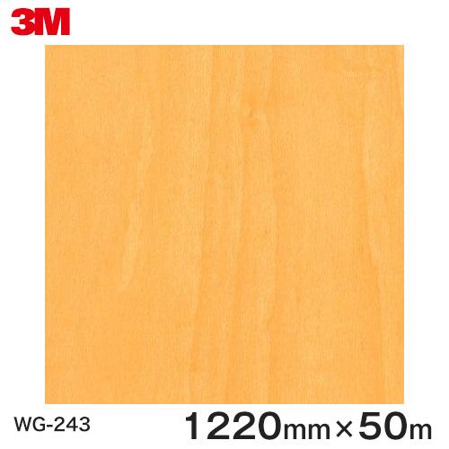 ダイノックシート<3M><ダイノック>フィルム 木目シート Wood Grain ウッドグレイン ハードメイプル 板目 WG-243 原反巾 1220mm 1巻(50m)