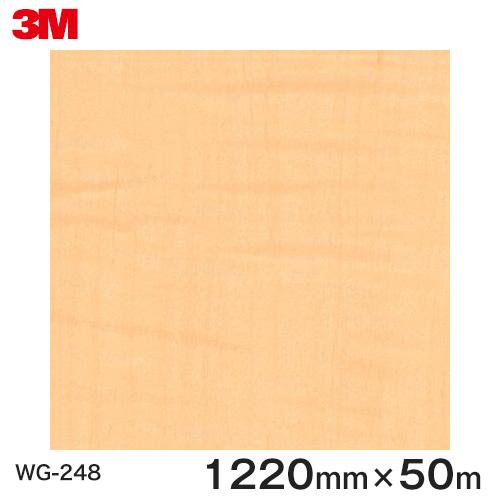 ダイノックシート<3M><ダイノック>フィルム 木目シート Wood Grain ウッドグレイン シカモア 柾目 WG-248 原反巾 1220mm 1巻(50m)