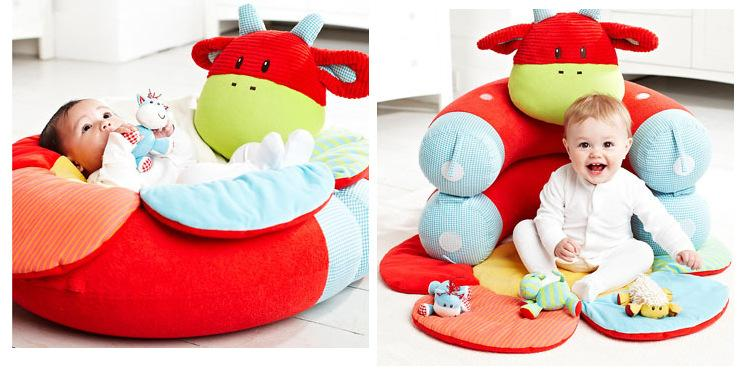 Non-landing in Japan! !ELC blossam farm baby shark shark crib is most suitable for a cognitive education playground equipment toy gift to and fro! ◆Red