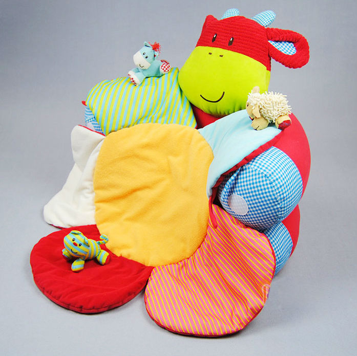 일본 미 도착!! ELC blossam farm 베이비 フカフカ 아기 침대 흔들 지능 개발 놀이 장난감 선물에 안성맞춤! ◆ 레드