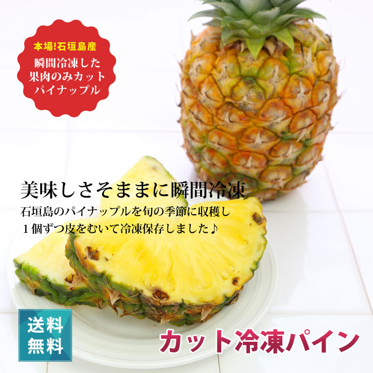 一口サイズの冷凍 パイナップル パイン(10kg)沖縄県産(国産)業務用でも