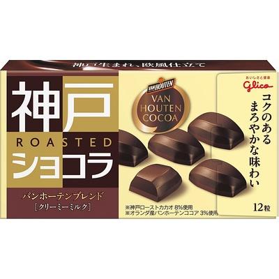 おしゃれ グリコ 神戸ローストショコラ バンホーテンブレンド クリーミーミルク 100%品質保証 53g 4901005500846 10コ入り