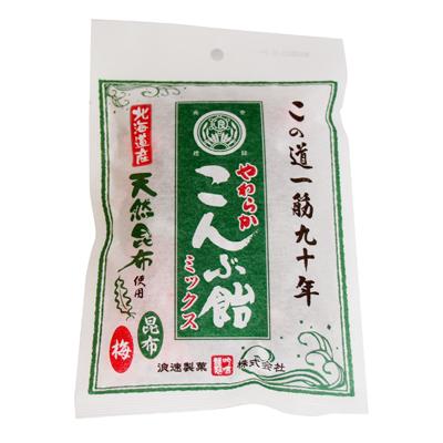 浪速製菓 やわらかこんぶ飴ミックス 100g 80コ入り (4902398121403c)