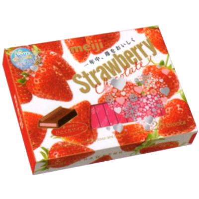 明治 ストロベリーチョコレート BOX 26枚 48コ入り 2017/01/03発売 (4902777026329c)