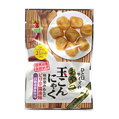 村岡食品 おやつ玉蒟蒻 ピリ辛醤油味 30g 120コ入り (4977815008414c)