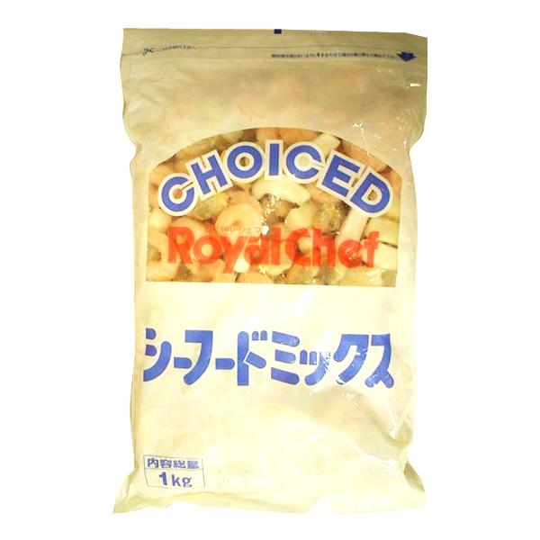 地域限定送料無料 オンラインショップ ※北海道 沖縄 一部離島等除く 業務用 単品 ロイヤルシェフ 3袋 760265000sx3k 計3袋 シーフードミックス 安い 激安 プチプラ 高品質 冷凍 袋 1kg