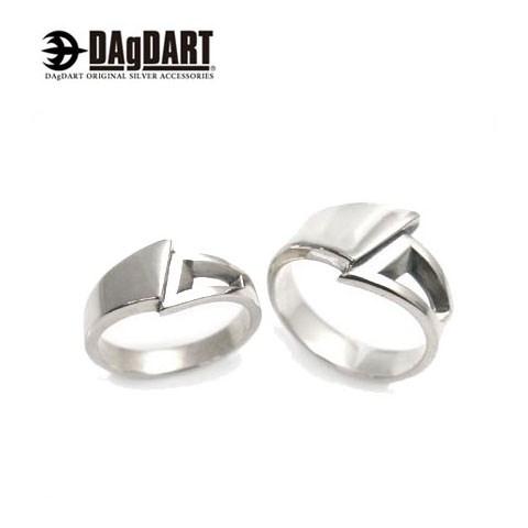 ダグダート DAgDART 刻印OK! シンプルデザイン 指輪 ペアリング シルバー DR-223-224 【ペアアクセサリー/シルバー925/クリスマス/プレゼント/ギフト/記念日/誕生日】