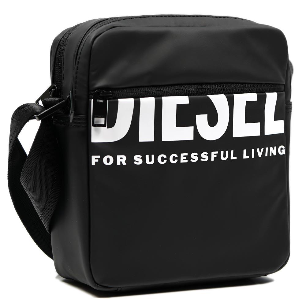 DIESEL ディーゼル ショルダーバッグ 斜めがけ ブラック X07501-P3188-T8013 バッグ ロゴ BOLDMESSAGE P3188 安値 X07501 T8013 DOUBLECROSS メーカー直売 I F-BOLD
