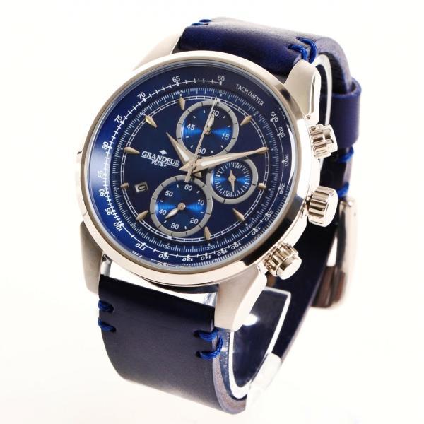 グランドールプラス 腕時計 メンズ GRANDEUR PLUS クロノグラフ GRP001W2