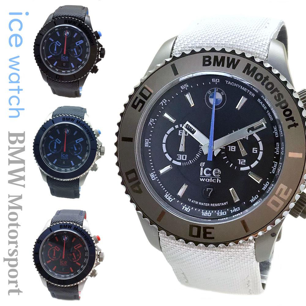アイスウォッチ BMW MOTORSPORT 時計 メンズ クロノグラフ ビッグ ice watch