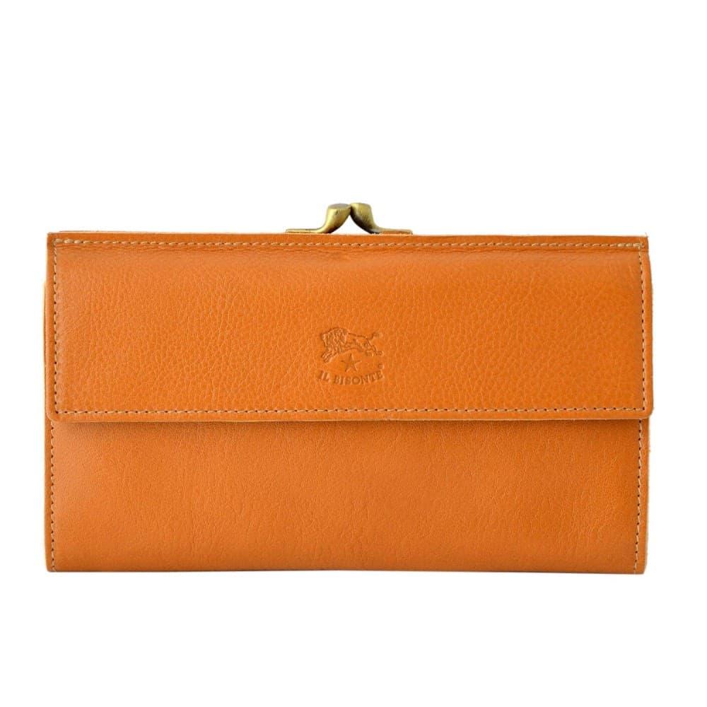 イルビゾンテ 財布 IL BISONTE Caramel がま口 二つ折り長財布 ロングウォレット CONTINENTAL C0911-145