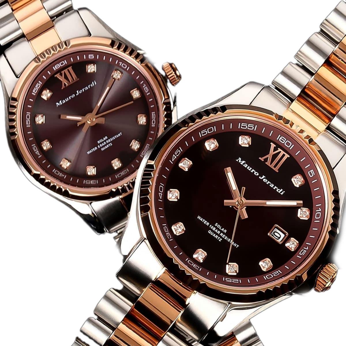 マウロジェラルディ 腕時計 ペア ペアウォッチ Mauro Jerardi ソーラー MJ037-1 MJ038-1