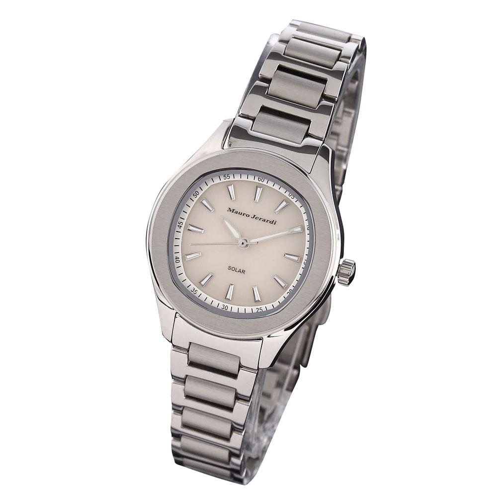 マウロジェラルディ 腕時計 レディース ウォッチ Mauro Jerardi ソーラー ホワイト文字盤 MJ054-3