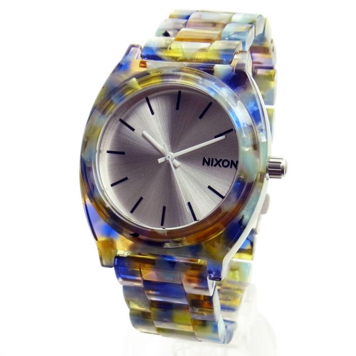 NIXON 推奨 ニクソン ユニセックス腕時計 A3271116 腕時計 ランキングTOP10 メンズ レディース THE タイムテラー ウォーターマーブル×シルバー TELLER A327-1116 TIME アセテート ACETATE