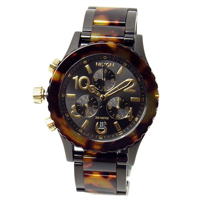 ニクソン 腕時計 レディース メンズ NIXON 38-20 クロノグラフ オールブラック/トートイズ A404679 A404-679