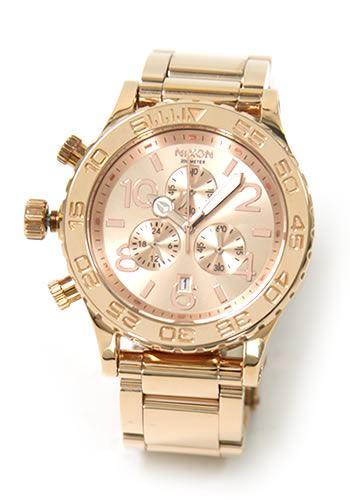 ニクソン 腕時計 メンズ レディース NIXON 42-20 クロノグラフ ローズゴールド A037897 A037-897 U