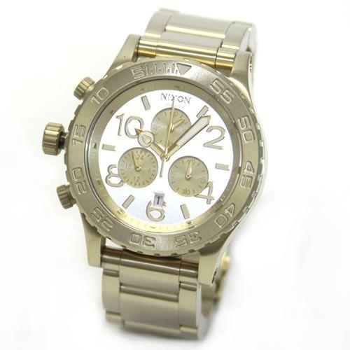 ニクソン 腕時計 メンズ レディース NIXON 42-20 CHRONO クロノグラフ シャンパンゴールド A0371219 A037-1219