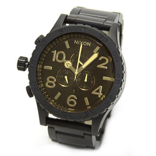 ニクソン 腕時計 メンズ NIXON 51-30 CHRONO クロノグラフ マットブラック×オレンジティント A0831354 A083-1354
