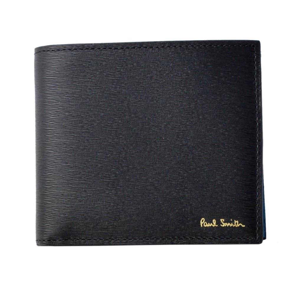 ポールスミス 財布 PAUL SMITH 小銭入れ付 二つ折り財布 内外バイカラー M1A-4833-ASTRGR-79