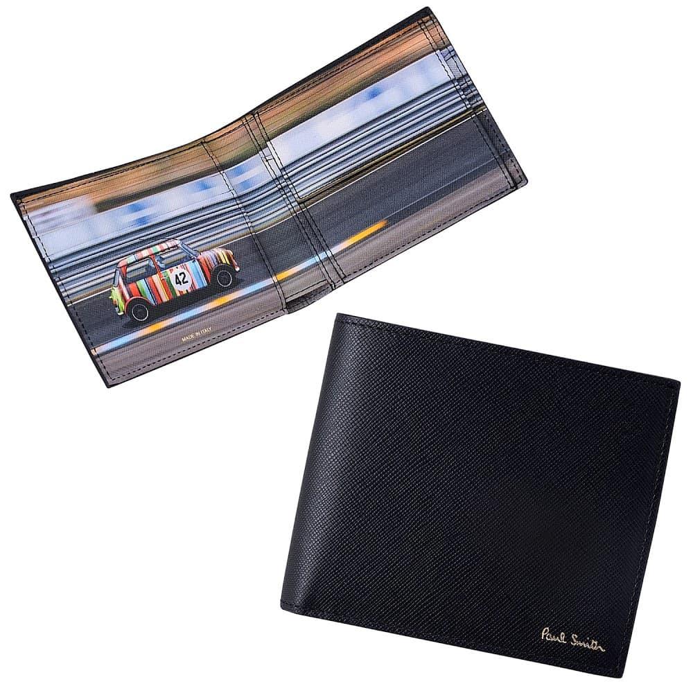 ポールスミス 財布 PAUL SMITH 小銭入れ付 二つ折り財布 ミニクーパーマルチ M1A-4833-AMINRC-PR