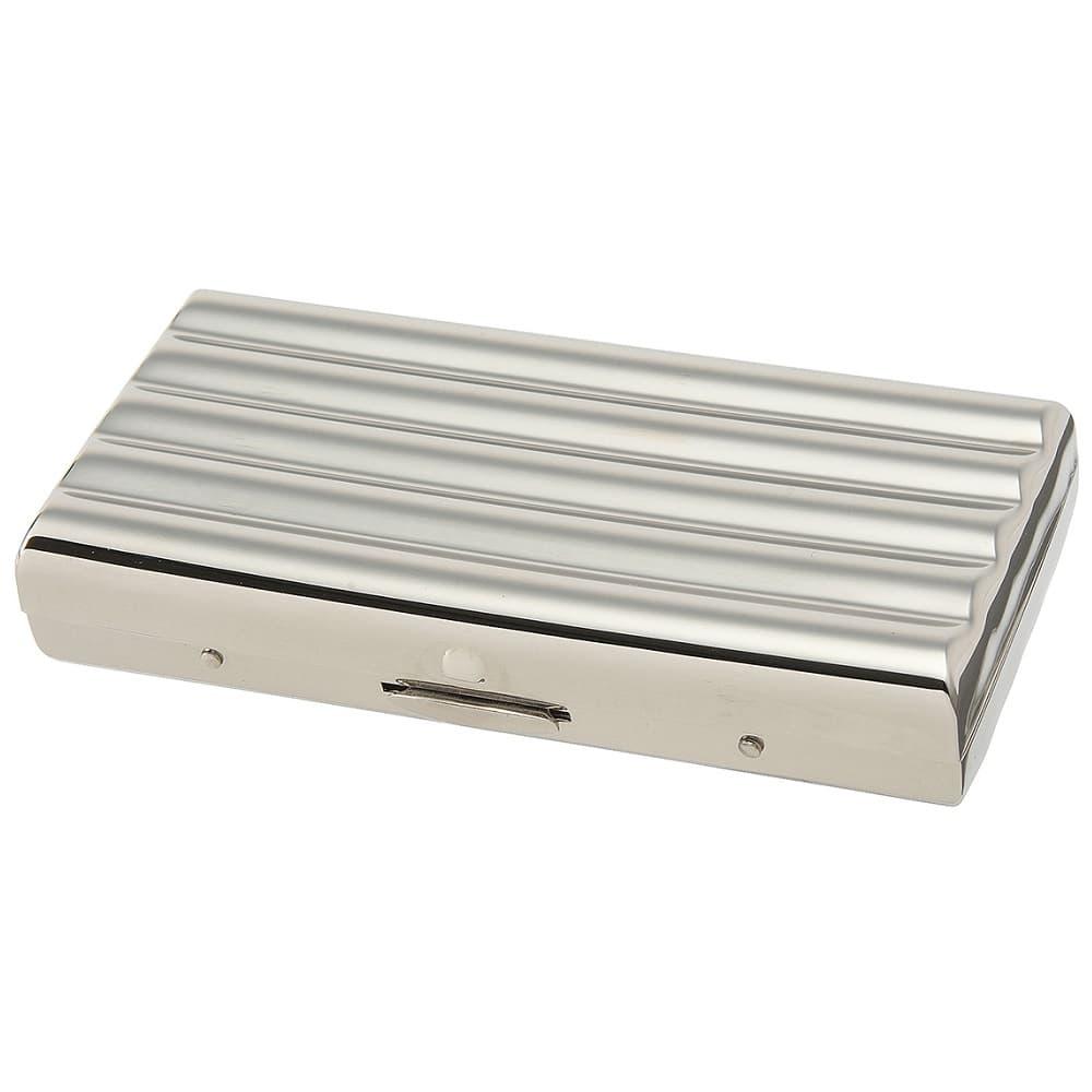 TSUBOTA PEARL 坪田パール 1-54407-81 購買 シガレットケース レギュラーサイズ 85mm 本物 ニッケル 真鍮製 ウェーブ10 10本