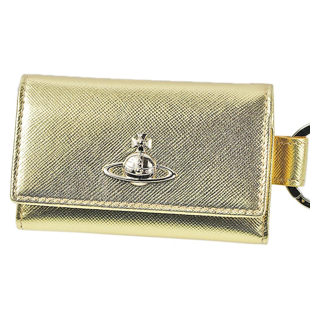 ヴィヴィアンウエストウッド キーケース Vivienne Westwood キーリング付 5連 51120007 40187 R401 GOLD