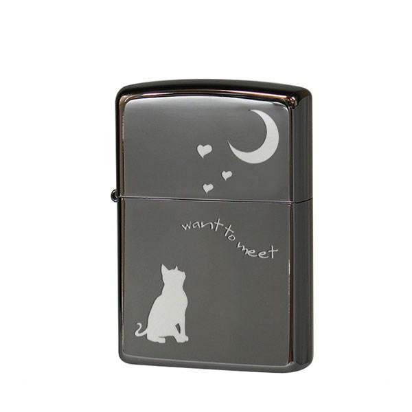 ZIPPO ジッポライター ジッポー キャット&ムーン 猫 2CAT-BNA