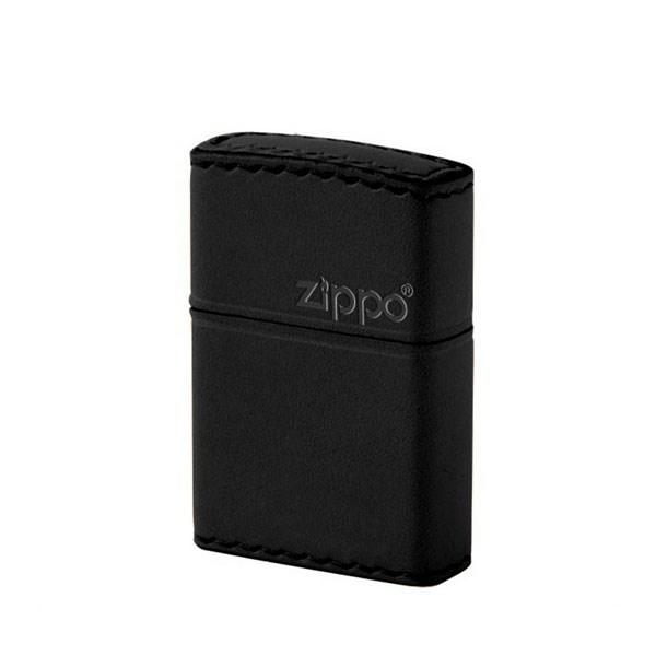 ZIPPO ジッポライター ジッポー ZIPPO B-5 革巻き レザー 横ロゴ 本革 牛革 ブラック