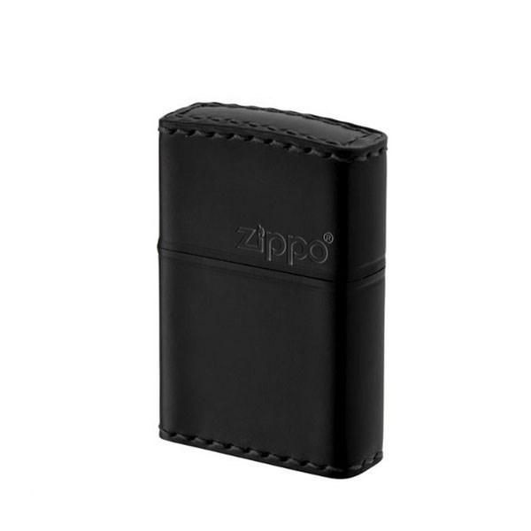 ZIPPO ジッポライター ジッポー ZIPPO CB-5 革巻き レザー 横ロゴ コードバン 本革 馬革 ブラック