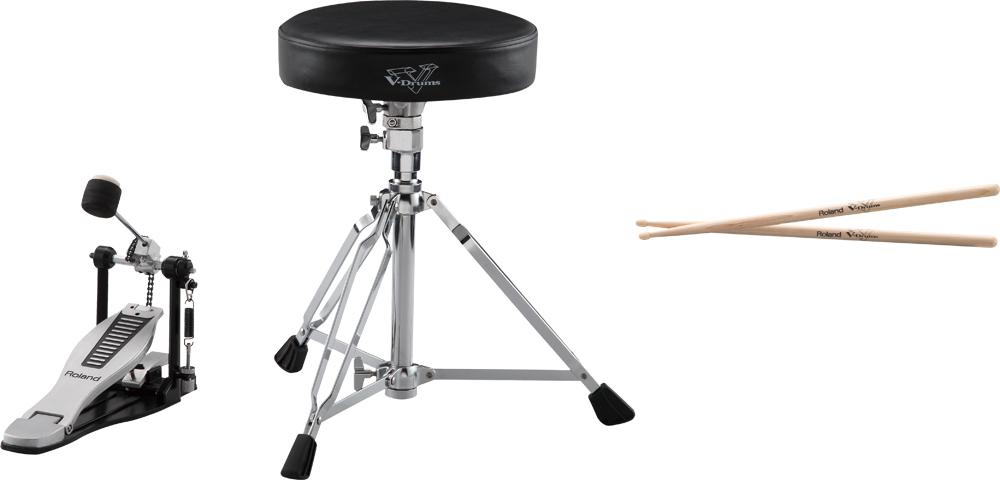 *【送料無料】Roland(ローランド) Vドラム用イス+ペダル+スティックセット(電子ドラム用) DAP-3X