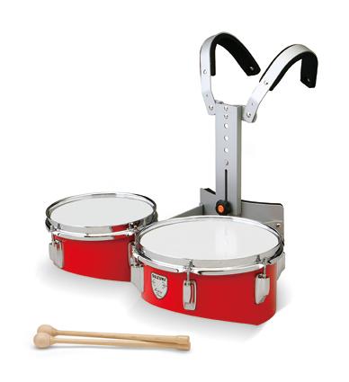 *【代引不可】【SUZUKI(鈴木楽器)】【教育楽器】【マーチングドラム】 ティンプトンドラム ツイン W-8DR(レッド)