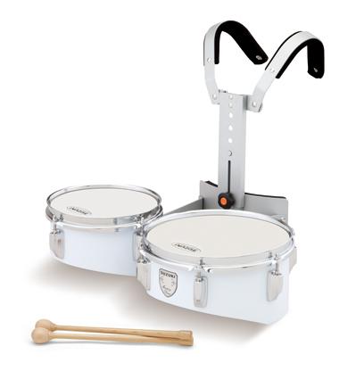 *【代引不可】【SUZUKI(鈴木楽器)】【教育楽器】【マーチングドラム】 ティンプトンドラム ツイン W-8DW(ホワイト)