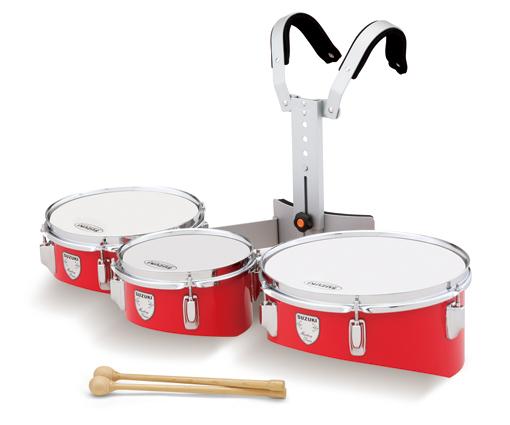 *【代引不可】【SUZUKI(鈴木楽器)】【教育楽器】【マーチングドラム】 ティンプトンドラム トリオ TR-8DR(レッド)