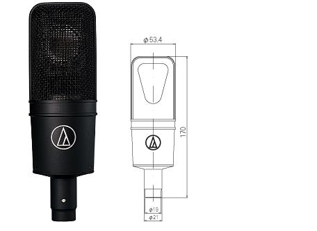 【audio-technica(オーディオテクニカ)】【コンデンサーマイク】AT4040